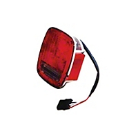 Omix-ADA Tail Light Assembly, Left, Chrome (91-98 Wrangler YJ & TJ) - Omix-ADA 12403.15