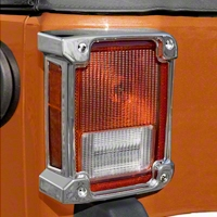 Rugged Ridge Tail Light Covers, Chrome (07-13 Wrangler JK) - Rugged Ridge 13311.21