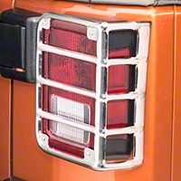 Rugged Ridge Taillight Euro Guards Polished Stainless Steel - Pair (07-14 Wrangler JK) - Rugged Ridge 11103.03