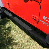 Rugged Ridge Textured Black 4in Oval Nerf Bars (07-13 Wrangler JK 4 Door) - Rugged Ridge 11591.08