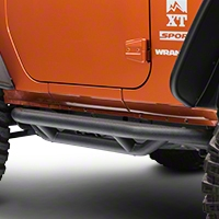 Rugged Ridge Textured Black Nerf Bars (07-13 Wrangler JK 2 Door) - Rugged Ridge 11504.21