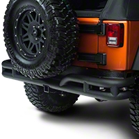 Rugged Ridge Rear Tube Bumper, Textured Black (07-15 Wrangler JK) - Rugged Ridge 11571.10
