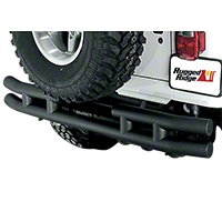 Rugged Ridge Tubular Rear Bumper w/o Hitch, Textured Black (87-06 Wrangler YJ & TJ) - Rugged Ridge 11571.03