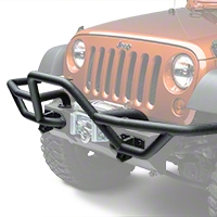 Rugged Ridge RRC Mount for Front XHD Bumper w/ 7 in. Flares, Textured Black (07-16 Wrangler JK) - Rugged Ridge 11540.18