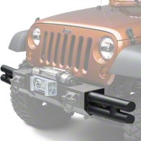 Rugged Ridge Textured Black Tube Ends for XHD Front Bumper (07-13 Wrangler JK) - Rugged Ridge 11540.21