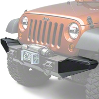 Rugged Ridge Textured Black XHD Front Bumper Storage Ends (07-13 Wrangler JK) - Rugged Ridge 11540.22