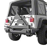 Rugged Ridge Tire Carrier for XHD Rear Bumper (87-06 Wrangler YJ & TJ) - Rugged Ridge 11546.42