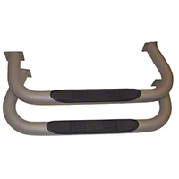 Rugged Ridge Nerf Bars, Pair, Titanium (87-06 Wrangler YJ & TJ) - Rugged Ridge 11532.02