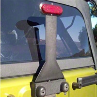 Body Armor Third Brake Light Extension (87-13 Wrangler YJ, TJ & JK) - Body Armor JK-5120