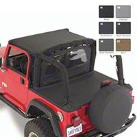 Smittybilt Tonneau Cover, Black Denim (97-06 Wrangler TJ) - Smittybilt 761015