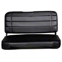 Smittybilt Standard Rear Seat Vinyl, Traditional Black (87-95 Wrangler YJ) - Smittybilt 8001N
