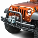 Rugged Ridge Tube Front Bumper, Textured Black w/ Winch Mount (07-13 Wrangler JK) - Rugged Ridge 11561.11