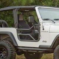 Rugged Ridge Tube Doors - Pair, Textured Black (97-06 Wrangler TJ) - Rugged Ridge 11509.20