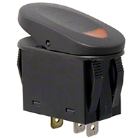 Rugged Ridge Two Position Rocker Switch w/ Indicator Light (Universal Application) - Rugged Ridge 17235.01