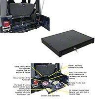 Tuffy Underseat Full Length Locking Drawer (87-06 Wrangler YJ & TJ) - Tuffy 130-01