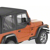 Bestop Upper Door Sliders for Factory Soft Top, Black Denim (97-06 Wrangler TJ) - Bestop 51787-15