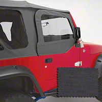 Rugged Ridge Upper Soft Door Kit, Front Pair, Black Denim (97-06 Wrangler TJ) - Rugged Ridge 13714.15