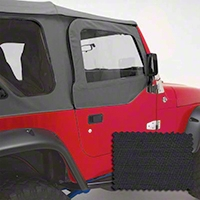 Rugged Ridge Upper Soft Door Kit, Front Pair, Black Diamond (97-06 Wrangler TJ) - Rugged Ridge 13714.35