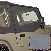 Rugged Ridge Upper Soft Door Kit, Front Pair, Gray (88-95 Wrangler YJ) - Rugged Ridge 13713.09