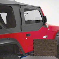 Rugged Ridge Upper Soft Door Kit, Front Pair, Khaki Diamond (97-06 Wrangler TJ) - Rugged Ridge 13714.36
