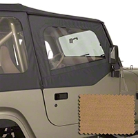 Rugged Ridge Upper Soft Door Kit, Front Pair, Spice (88-95 Wrangler YJ) - Rugged Ridge 13713.37