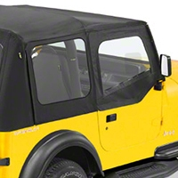 Bestop Upper Soft Doors for Factory Soft Top, Black Denim (88-95 Wrangler YJ) - Bestop 51782-15