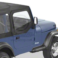 Bestop Upper Soft Doors for Supertop, Black Denim (88-95 Wrangler YJ) - Bestop 51780-15