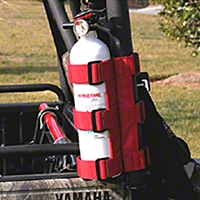 Rugged Ridge Red UTV Fire Extinguisher Holder, 1-1.5 in. (Universal Application) - Rugged Ridge 63305.2