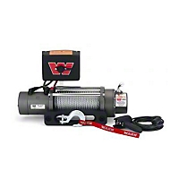 Warn M8000 Self-Recovery Winch, 12V Dc 80' Wire Rope And Hawse Fairlead (Universal Application) - Warn 26901