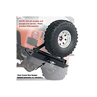 Warn Rear Bumper w/2 in. Hitch (87-95 Wrangler YJ) - Warn 61857