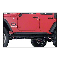 Warn Rock Sliders 3/16 in. Steel (07-13 Wrangler JK 4 Door) - Warn 74575