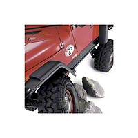 Warn Steel Rock Sliders, Powder-Coated Black 3/16 in. (97-06 Wrangler TJ) - Warn 63002