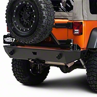 Warn Swing-A-Way Tire Carrier for Rock Crawler Bumper (07-13 Wrangler JK) - Warn 74299