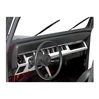 Warrior Products Dash Panel Overlays (87-95 Wrangler YJ) - Warrior Products 90424