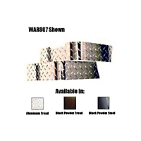 Warrior Products Short Corner Guards - Pair, Aluminum Diamond (87-95 Wrangler YJ) - Warrior Products 807