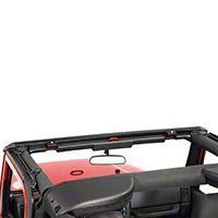 Bestop Windshield Channel, No Drill (97-06 Wrangler TJ) - Bestop 51238-01