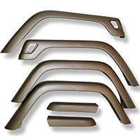 Xenon Sport Fender Flares TJ Style 6.5 in. Wide 6 pc Kit (87-95 Wrangler YJ) - Xenon 8710