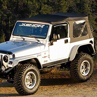 Xenon Tubular Flat Panel Fender Flares 4 pc Kit (87-95 Wrangler YJ) - Xenon 9080