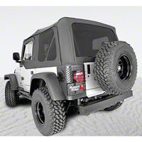 Rugged Ridge XHD Soft Top w/ Tinted Windows & Door Skins, Black Vinyl (97-06 Wrangler TJ) - Rugged Ridge 13728.01