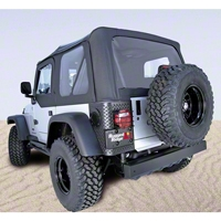Rugged Ridge XHD Soft Top w/ Clear Windows & Door Skins, Black Diamond (03-06 Wrangler TJ) - Rugged Ridge 13727.35