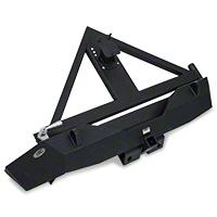 Smittybilt XRC Armor Rear Bumper w/ Hitch & Tire Carrier (07-15 Wrangler JK) - Smittybilt 76856