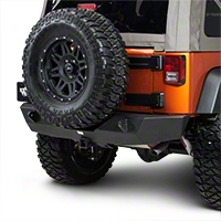 Smittybilt XRC Armor Rear Bumper w/ Hitch (07-15 Wrangler JK) - Smittybilt 76855