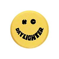 KC Hilites Yellow Hard Plastic Light Cover w/ Smiley KC Logo 6 in. Round (Universal Application) - KC Hilites 5202