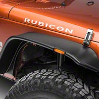 Bushwacker Flat Style Flare Kit, 4 Pieces (07-13 Wrangler JK 4 Door) - Bushwacker 10918-07