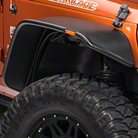 Bushwacker Flat Style Flare Kit, 4 Pieces (07-13 Wrangler JK 2 Door) - Bushwacker 10919-07