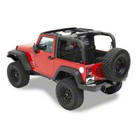 Pavement Ends Cab Curtains, Black Diamond (07-13 Wrangler JK 4 Door) - Pavement Ends 41425-35