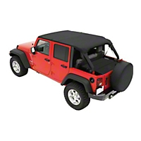Pavement Ends Sun Cap Plus, Black Diamond (07-13 Wrangler JK 4 Door) - Pavement Ends 41526-35