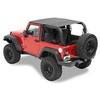 Pavement Ends Sun Cap Plus, Black Diamond (07-13 Wrangler JK 2 Door) - Pavement Ends 41525-35
