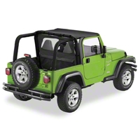 Pavement Ends Cab Curtain, Black Diamond (03-06 Wrangler TJ) - Pavement Ends 41423-35