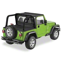 Pavement Ends Cargo Cover, Black Denim (87-91 Wrangler YJ) - Pavement Ends 41805-15